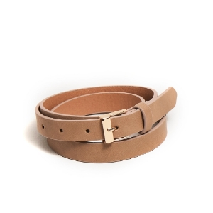 Picture of Simple style leather belt - Beige