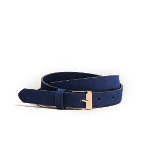 Picture of Simple style leather belt - Blue